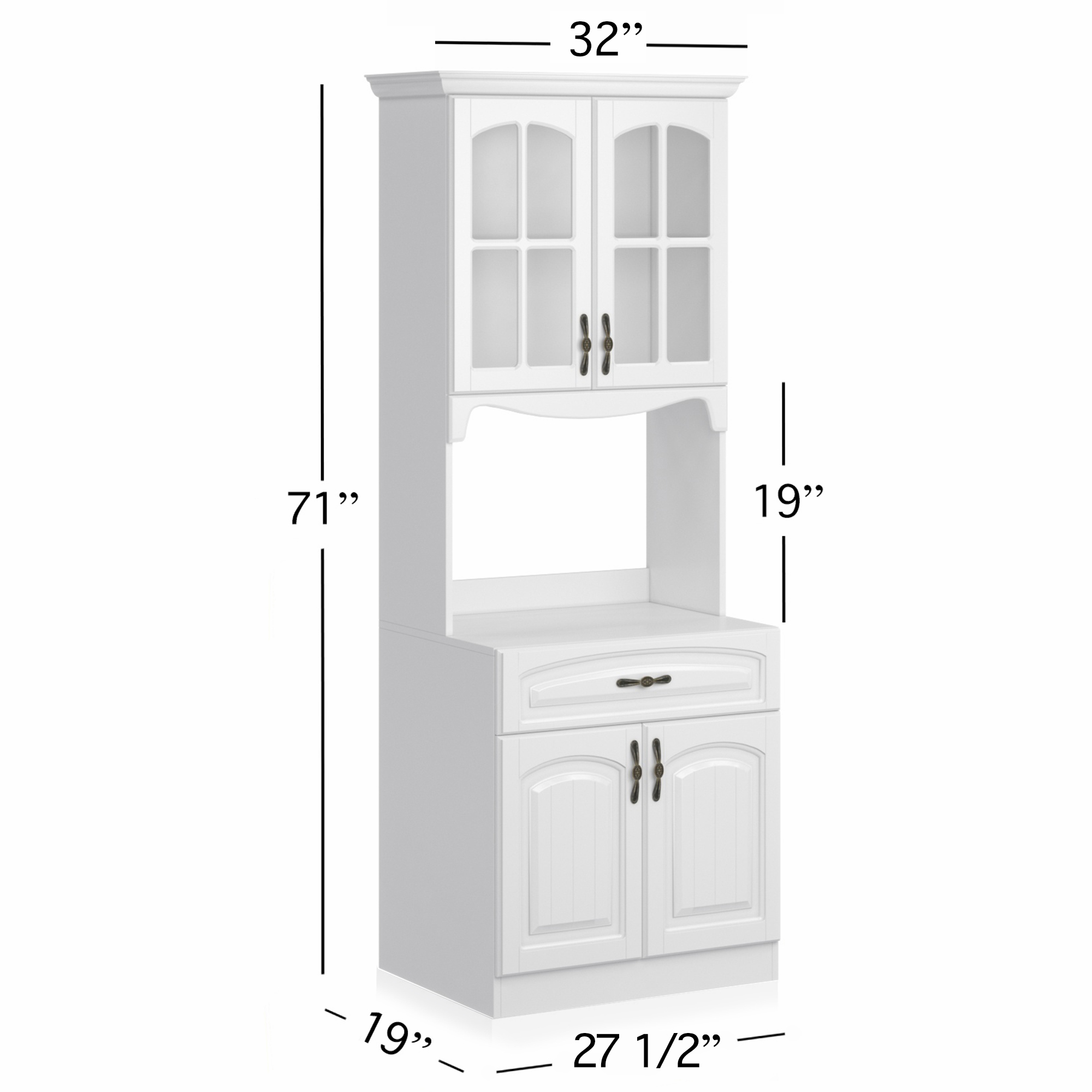 Image of: Kitchen Storage Cabinet White Kitchen Pantry
